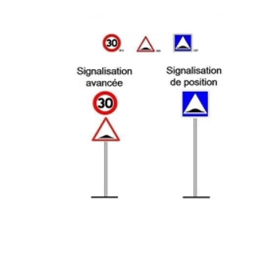 Ralentisseur MODULO 5 cm - pour les terrains industriels et les parkings