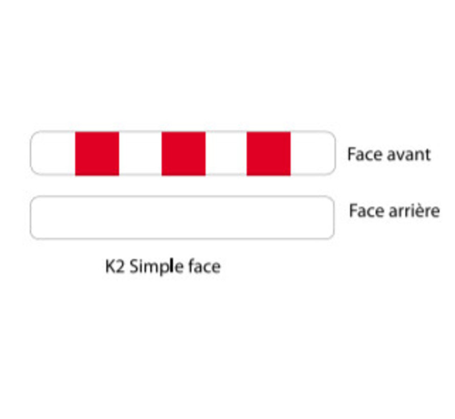 Panneau type K2 simple face