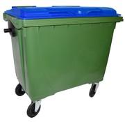 Conteneur à déchets 660 litres cuve verte