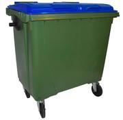Conteneur à déchets 770 litres cuve verte