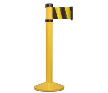 Poteau jaune à sangle 10 cm