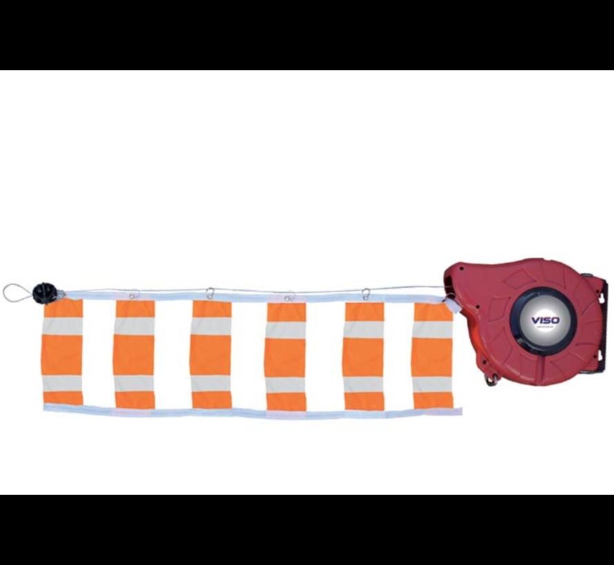 Barrière de signalisation avec enrouleur
