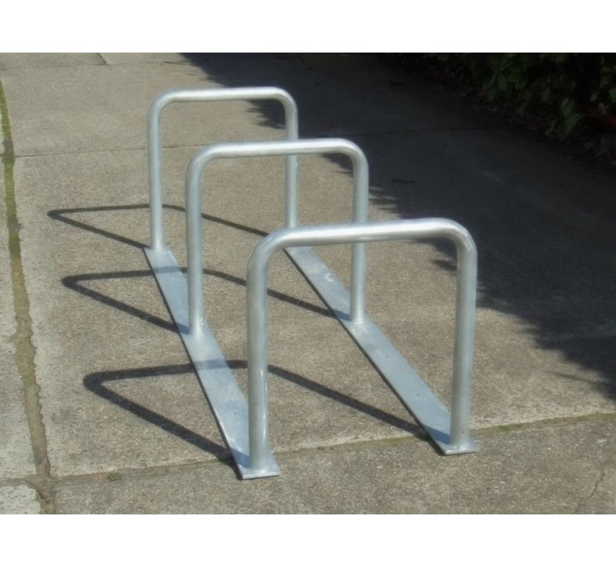 Support vélos avec 3 arceaux 2000 x 600 x 650