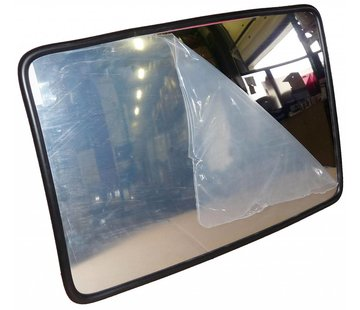 Miroir industriel (Rectangle) 400 x 600 mm - cadre noir