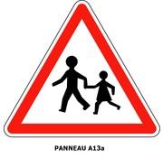 Panneau A13a  Endroit fréquenté par les enfants