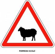 Panneau A15a2 Passage d'animaux domestiques