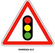 Panneau A17 Annonce de feux tricolores