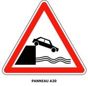 Panneau A20 Débouché sur un quai ou une berge.