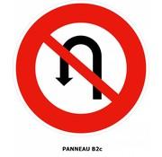 Panneau B2c Interdiction de faire demi-tour