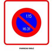 Panneau B6b2 Entrée d'une zone à stationnement unilatéral à alternance semi-mensuelle