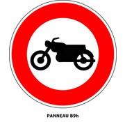 Panneau B9h Interdit l'accès aux motocyclettes