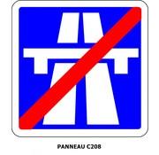 Panneau C208 Fin d'autoroute