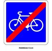 Panneau C114 Fin d'une piste cyclable