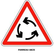 Panneau AB25 Carrefour à sens giratoire