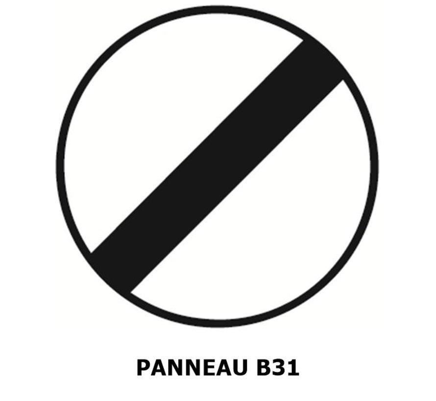 Panneau B31 fin d'interdiction