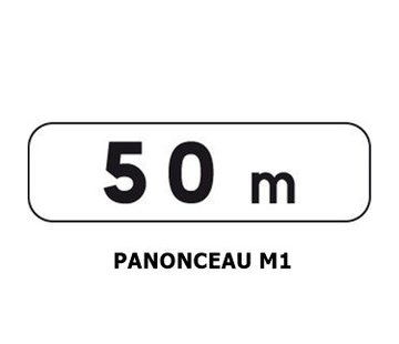 Panonceau M1 (pour panneau rond)