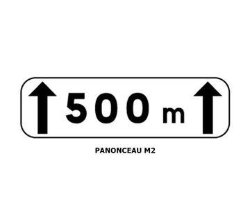 Panonceau M2 (pour panneau rond)