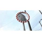 Poteau acier pour miroir routier
