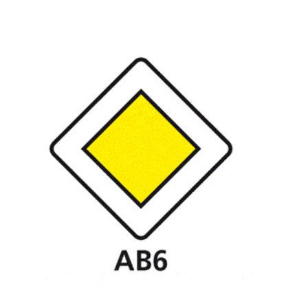 Panneau de priorité et d'intersection