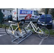 Supports vélos double face pour 8 ou 10 vélos