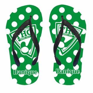 Hockey slippers met het logo van je club met naam