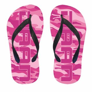 Slippers camouflage met naam