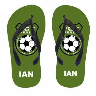 Slippers met het logo van je favoriete club