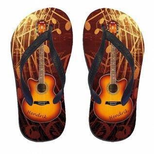 Slippers gitaar met naam