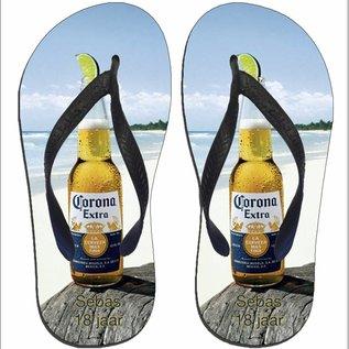 Slippers Corona met naam of andere tekst