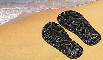 Unieke slippers met foto print voor vakantie