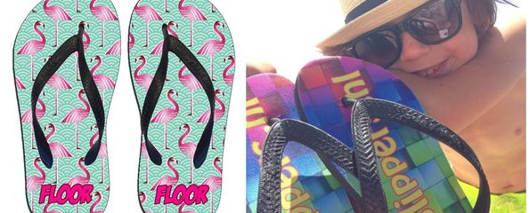 Flamingo slippers met naam