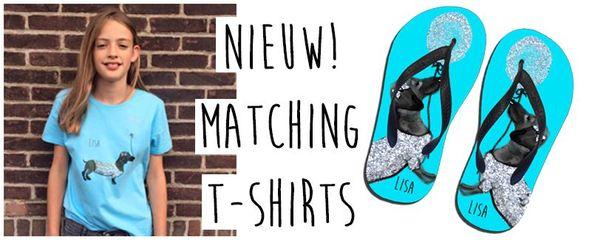 T-shirts bij slippers