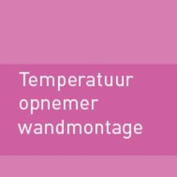 Temperatuuropnemer wandmontage
