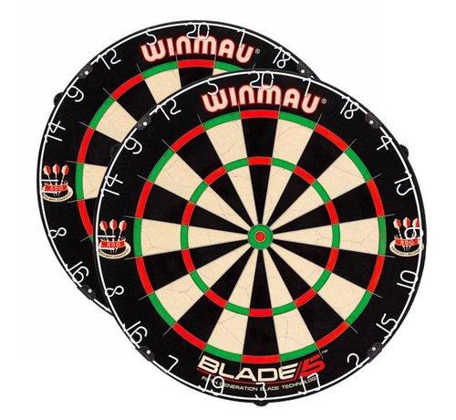 Winmau Darts 2 x Winmau Blade 5 Dartboard