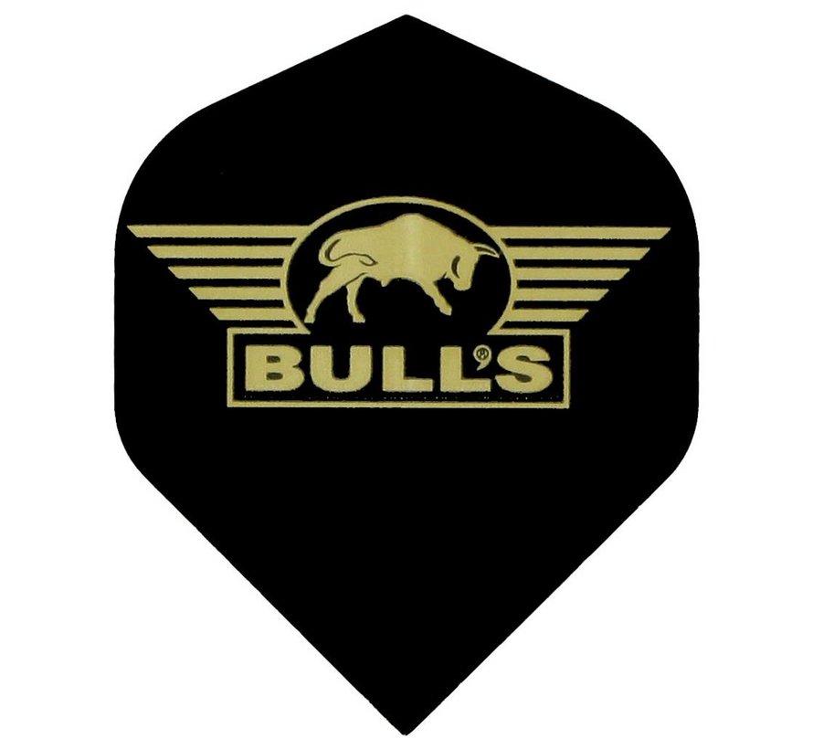 """POWERFLITE Solid """"Black"""" Golden Bull's logo"""