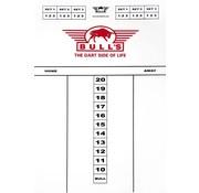 Bull's dart scorebord 25x35cm