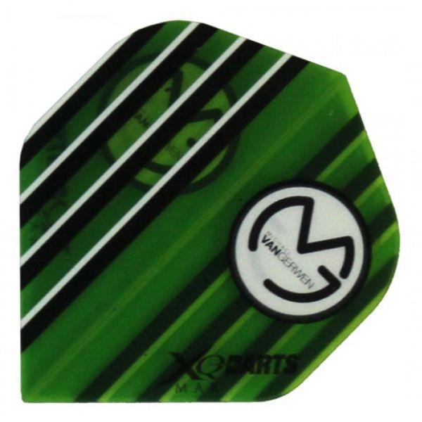 XQ-Max Darts Michael van Gerwen Flight Transparant Green