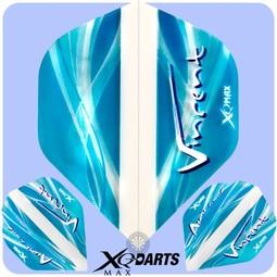 XQ-Max Darts Vincent van der Voort Flight Transparant blauw