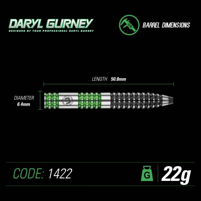Winmau Darts Daryl Gurney 90% Tungsten green