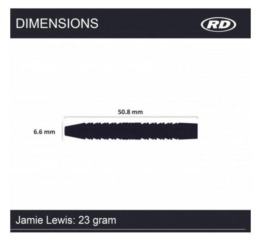 Jamie Lewis 90% Tungsten Dartpijlen