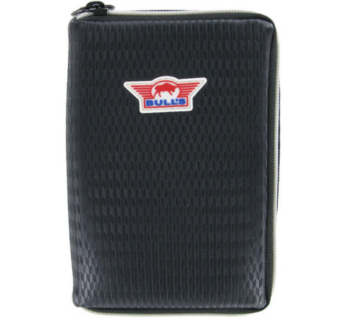 Bull's Darts: The darts in the air! Unitas Case  - Leather Black - Carbon style