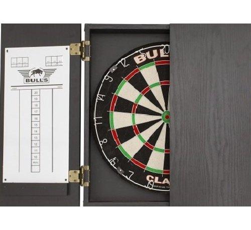 Bull's Darts: The darts in the air! CLASSIC CABINET - Black - Dart Kabinet