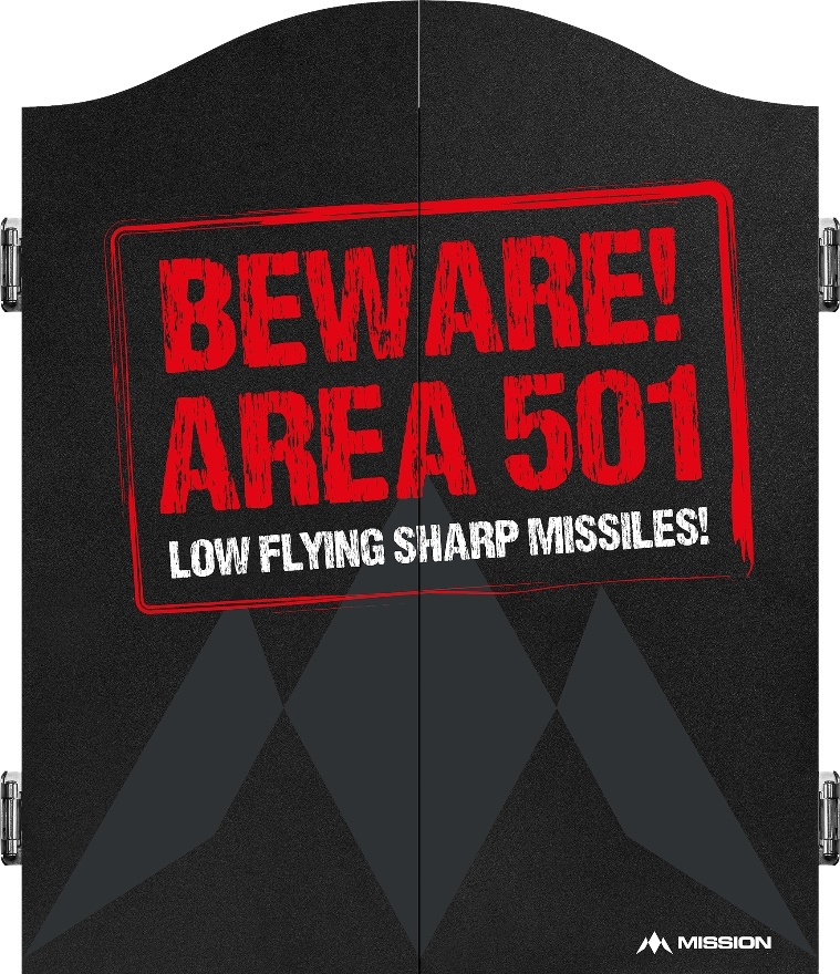 Mission Mission Dartbord Deluxe Kabinet - Beware