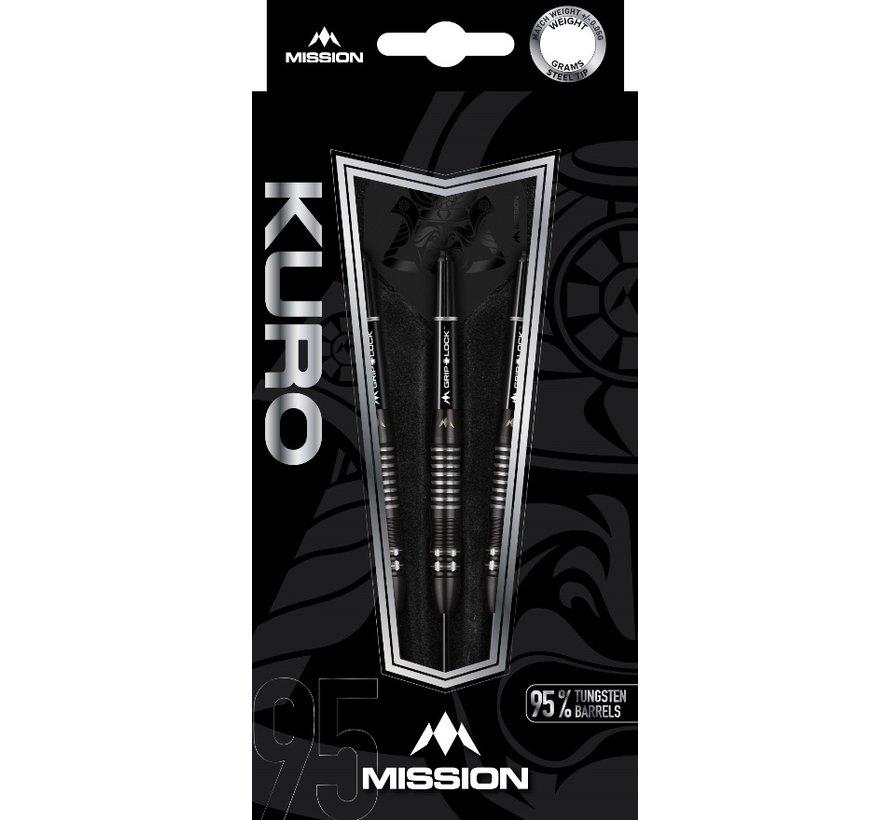 Mission Kuro Black M2 95% - Black Titanium - Razor Scallop