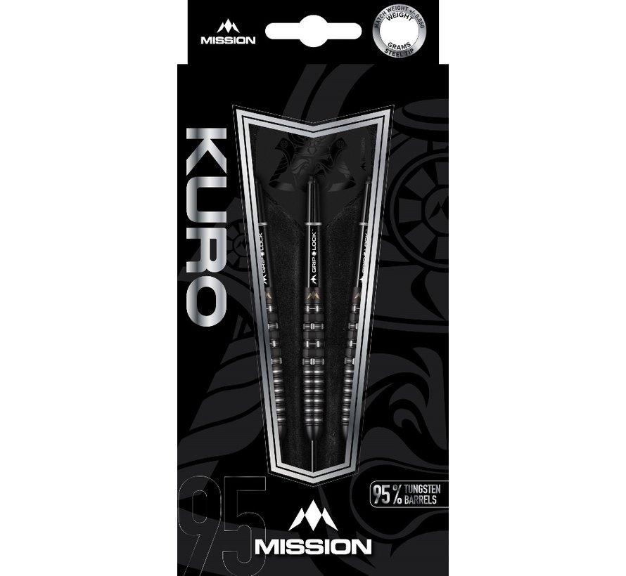 Mission Kuro Black M3 95% - Black Titanium - Rear Iso Grip