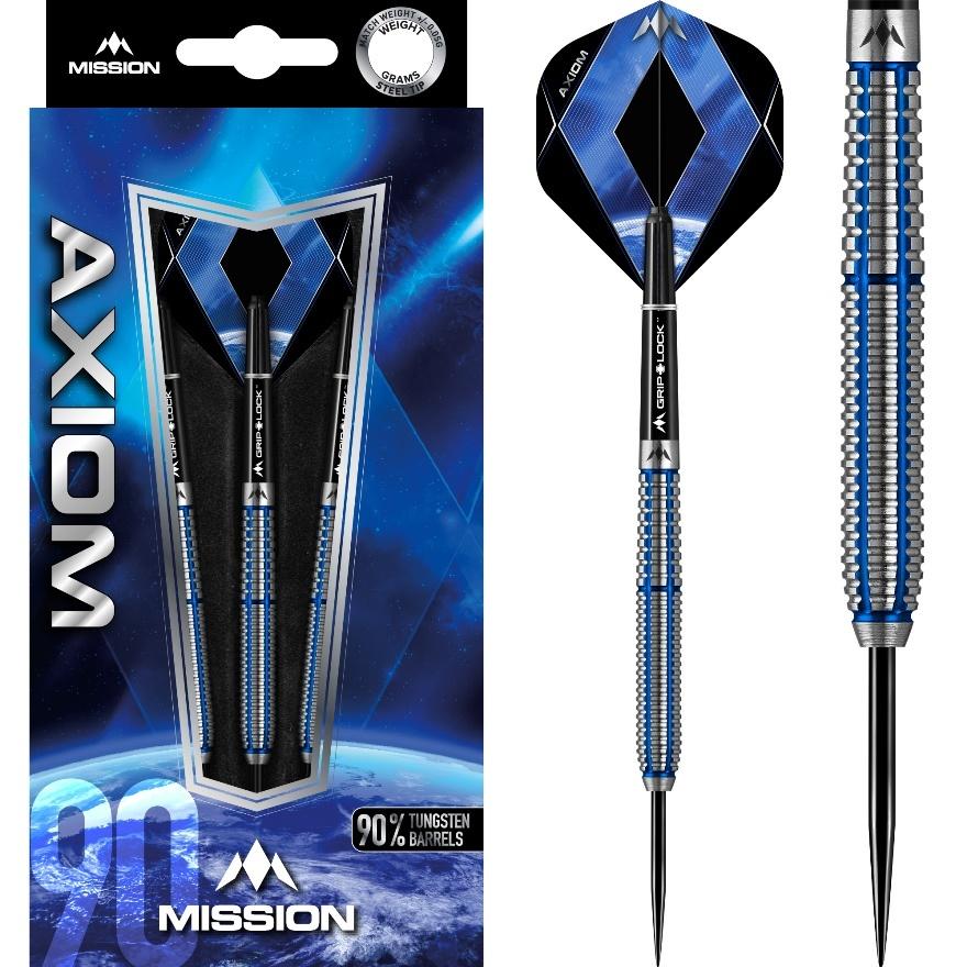 Mission darts Mission Axiom Blue M1 90% - Twin Ring