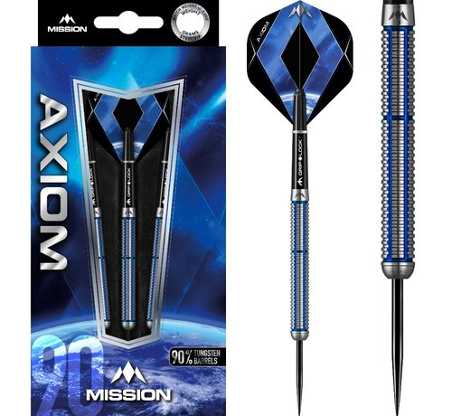 Mission darts Mission Axiom Blue M2 90% - Linear Grip