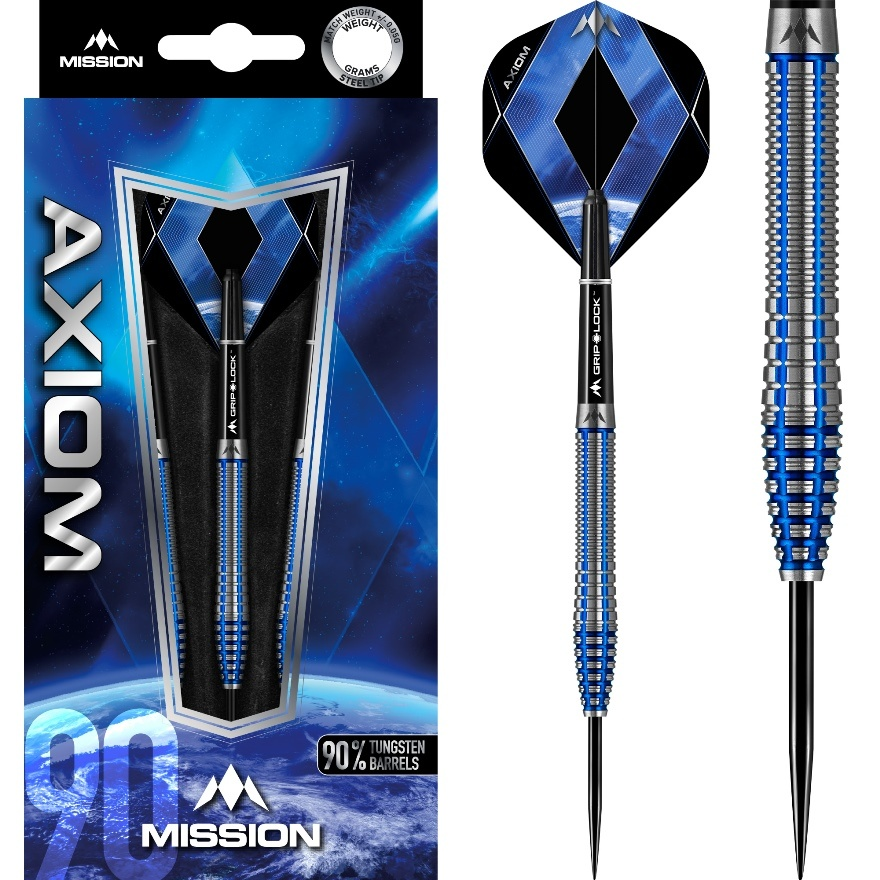 Mission darts Mission Axiom Blue M3 90% - Front Weighted
