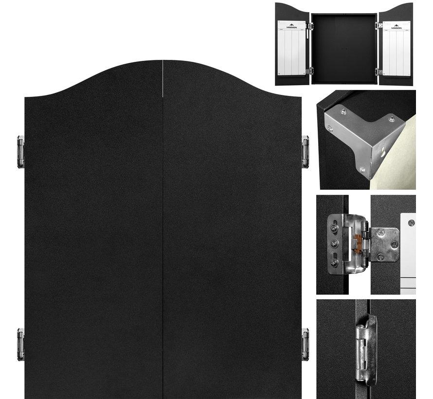 Mission Dartbord Deluxe Kabinet - Plain Black