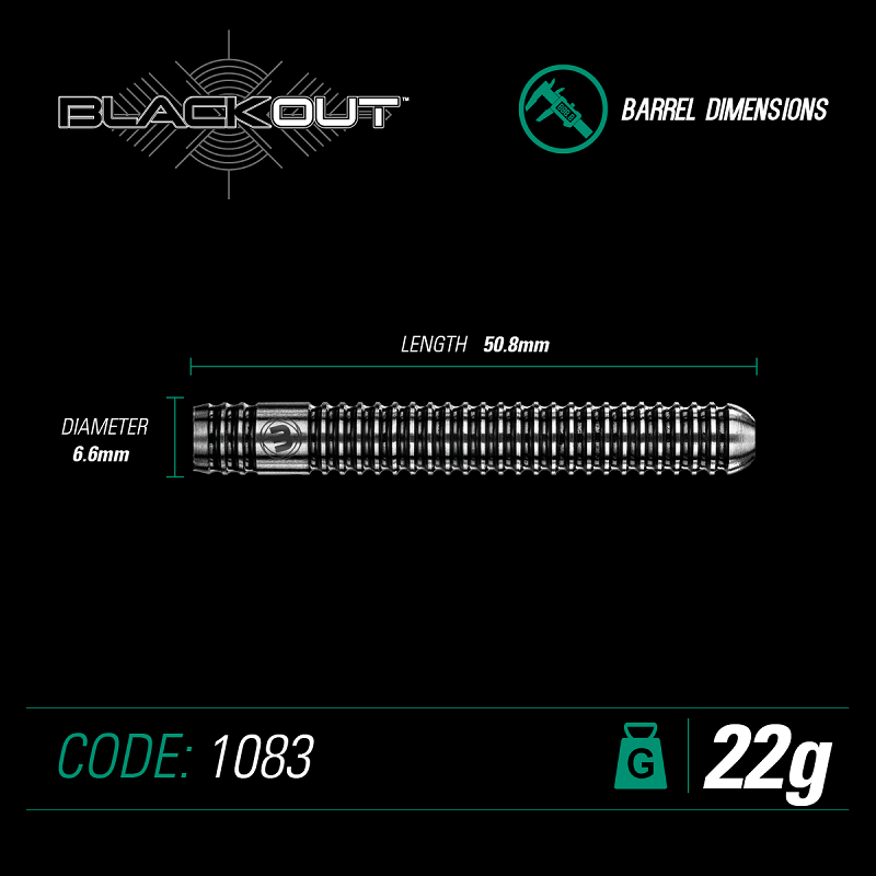 Winmau Darts Winmau Blackout 90% tungsten